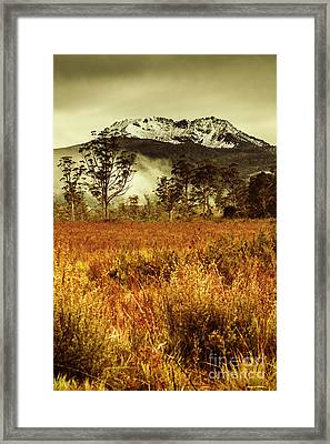 Mt Gell. Tasmania National Park Of Franklin Gordon Framed Print by Jorgo Photography - Wall Art Gallery