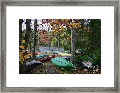 Mt. Gretna Canoes Framed Print
