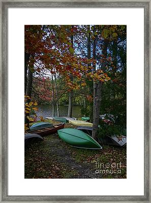 Mt. Gretna Canoes In Fall Framed Print