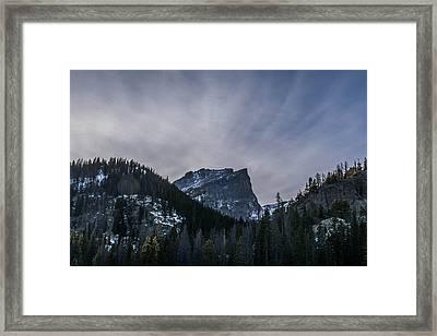 Mt. Hallet Sunrise Framed Print