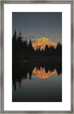 Mt Hood Alpenglow II Framed Print