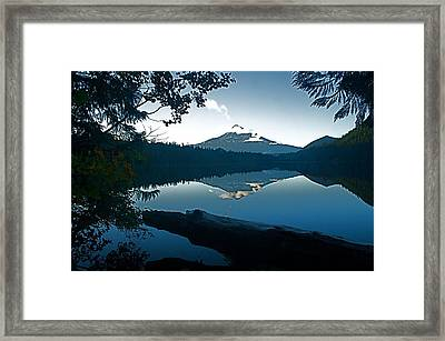 Mt. Hood Dawn Reflection Framed Print