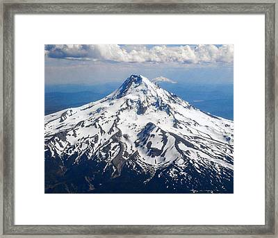 Mt. Hood From 10,000 Feet Framed Print