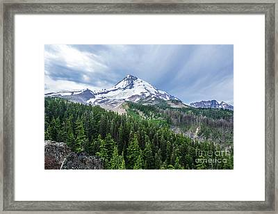 Mt Hood From Cloud Cap Framed Print by Linda Steider