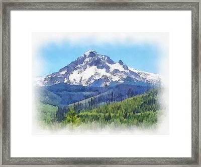 Mt. Hood In All Her Glory Framed Print