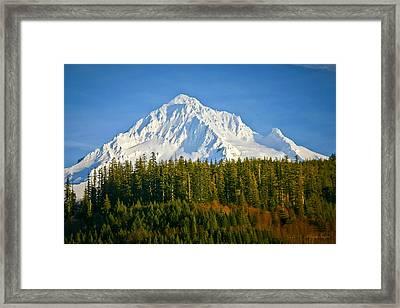 Mt Hood In Winter Framed Print