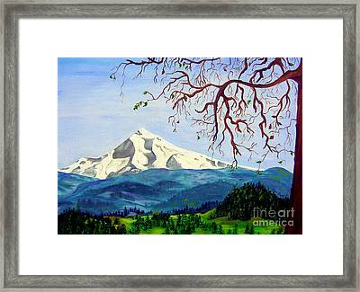 Mt Hood In Winter Framed Print