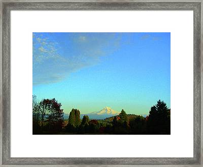 Mt Hood Just Before Sunset Framed Print