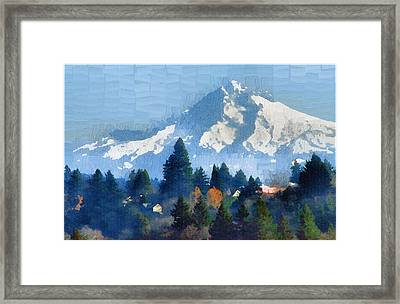 Mt. Hood  Framed Print by Margaret Hood