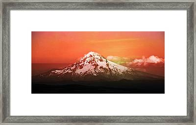 Oregon Framed Print featuring the photograph Mt Hood Oregon Sunset by Aaron Berg