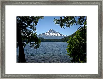 Mt Hood Over Lost Lake Framed Print