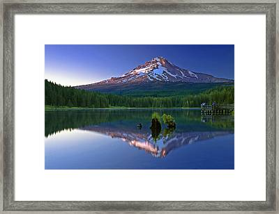 Mt. Hood Reflection At Sunset Framed Print