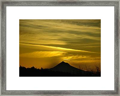 Mt. Hood Sunrise Framed Print