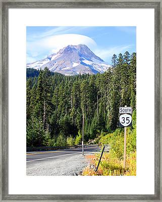 Mt. Hood With Lenticular Cloud Framed Print by Margaret Hood