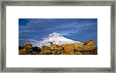 Mt Hood With Talus Framed Print