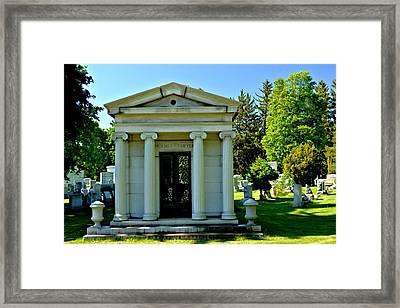 Mt. Hope Cemetery 3 Framed Print by Richard Jenkins
