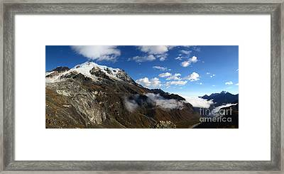 Mt Huayna Potosi And Zongo Valley Panorama Bolivia Framed Print by James Brunker
