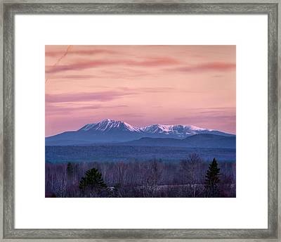 Mt Katahdin Sunrise Framed Print