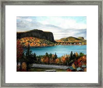 Mt. Kineo, Rockwood, Maine Framed Print