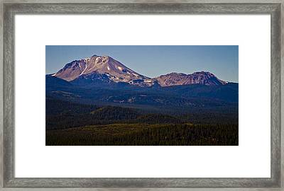 Mt Lassen And Chaos Crags Framed Print by Albert Seger