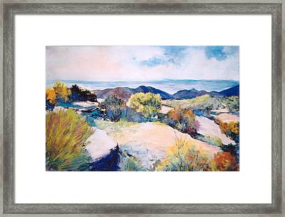 Framed Print featuring the painting Mt Lemmon View by M Diane Bonaparte