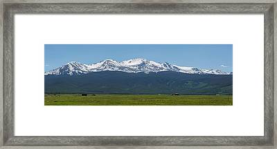 Mt. Massive - Spring Framed Print by Aaron Spong