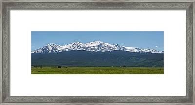 Mt. Massive - Spring Framed Print