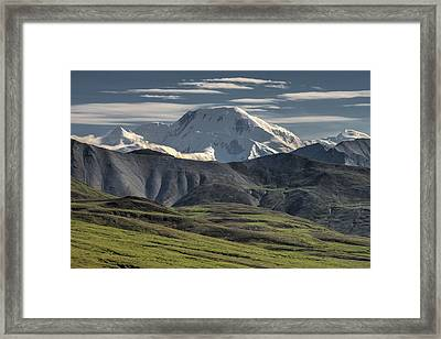 Framed Print featuring the photograph Mt. Mather by Gary Lengyel
