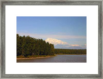Framed Print featuring the photograph Mt. Mckinley Alasa 0755 by Jack G  Brauer