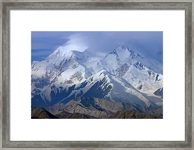 Framed Print featuring the photograph Mt. Mckinley Alaska by Jack G  Brauer