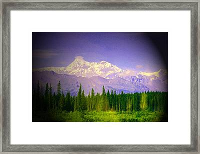 Framed Print featuring the photograph Mt Mckinley Ambiance by Jack G  Brauer