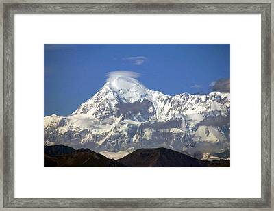 Mt. Mckinley Circling Wind Framed Print by Jack G  Brauer