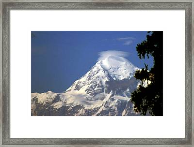 Mt. Mckinley From 60 Miles Away Framed Print by Jack G  Brauer