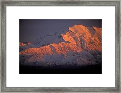 Mt. Mckinley Sunset Framed Print by Sandra Bronstein
