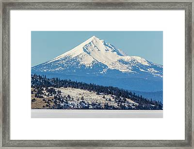 Framed Print featuring the photograph Mt. Mcloughlin by Marc Crumpler