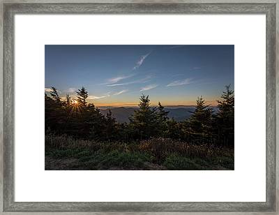 Mt Mitchell Sunset North Carolina 2016 Framed Print by Terry DeLuco