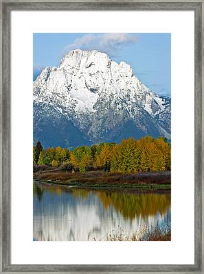 Mt Moran From Ox Bow Bend Framed Print