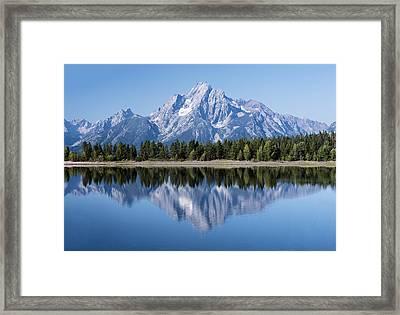 Mt. Moran Grand Tetons Framed Print
