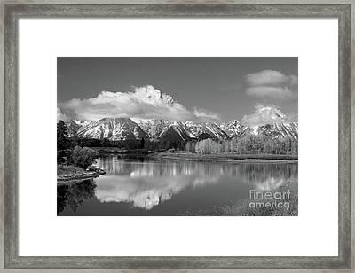 Mt. Moran  In Black And White Framed Print