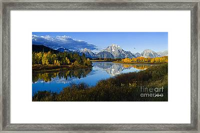 Mt. Moran On The Snake River Framed Print