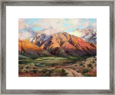 Framed Print featuring the painting Mt Nebo Range by Steve Henderson