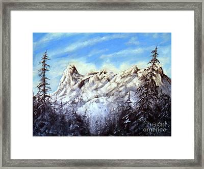 Mt Nusatsum Framed Print