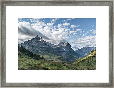 Framed Print featuring the photograph Mt. Oberlin From Logan Pass by Jemmy Archer