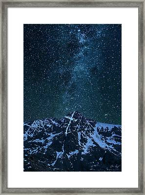 Framed Print featuring the photograph Mt. Of The Holy Cross Milky Way by Aaron Spong