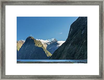 Framed Print featuring the photograph Mt Pembroke Glacier by Gary Eason