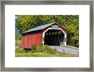 Mt. Pleasant Covered Bridge Framed Print