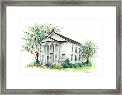 Mt. Pleasant Presbyterian Church Framed Print by Lindsey Fisher