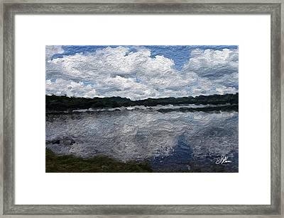 Framed Print featuring the painting Mt. Pocono Landscape by Joan Reese