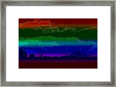 Mt. Rainier Dream Framed Print