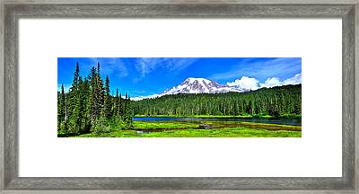 Mt. Rainier From Reflection Lakes Framed Print